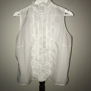 Anne Fontaine ruffled front blouse size 44